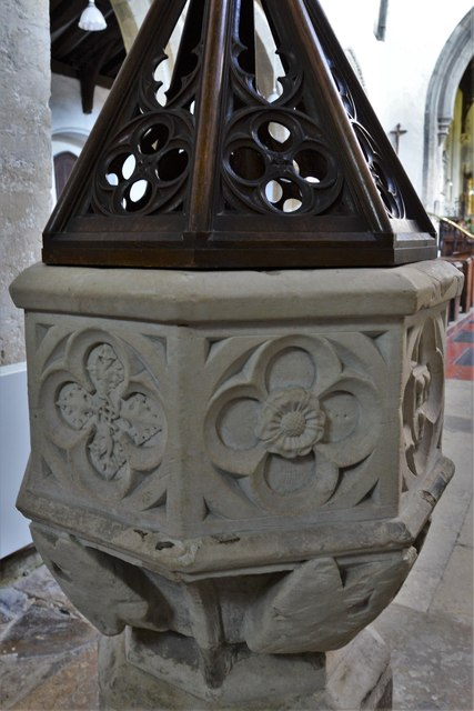 North Marston, St. Mary's Church: The font 5