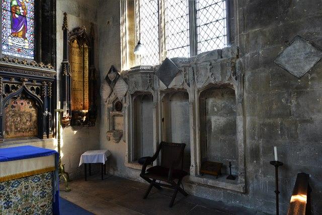 North Marston, St. Mary's Church: The sedilia
