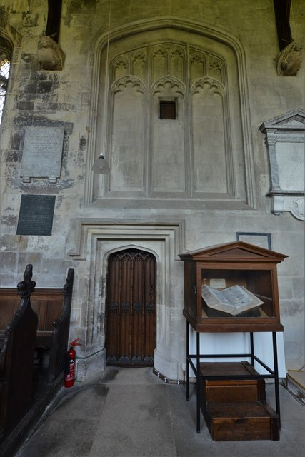 North Marston, St. Mary's Church: Blocked window