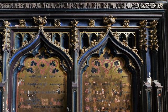 North Marston, St. Mary's Church: Altar reredos detail