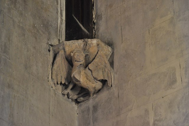 North Marston, St. Mary's Church: Roof corbel 2
