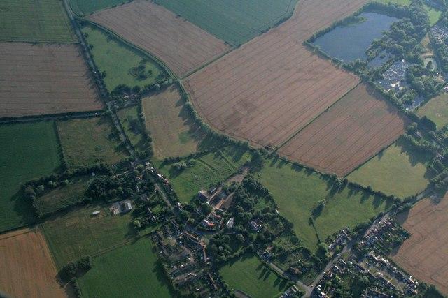 Earthworks in a field at Landbeach: aerial 2017