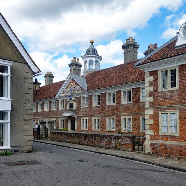 The Matrons College almshouses, High Street, Salisbury