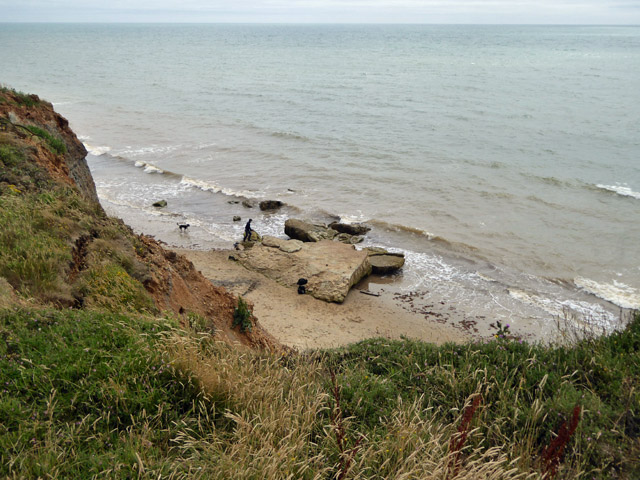 Rock beneath Roughland Cliff