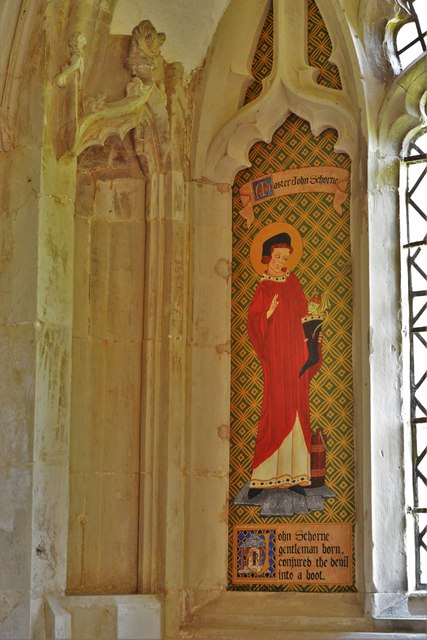 North Marston, St. Mary's Church: Shrine of John Schorne (d.1314) 2, painting