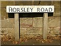 SK3745 : Bench mark, Horsley Road, Kilburn by Alan Murray-Rust