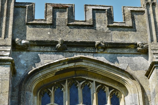 North Marston, St. Mary's Church: Tower corbels 2