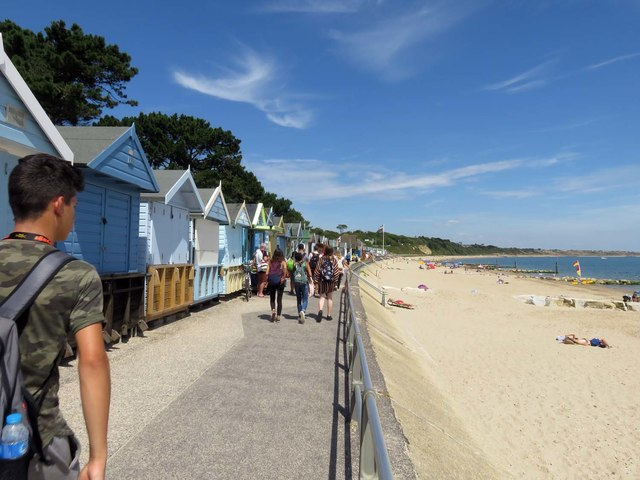 Beach huts by Avon Beach