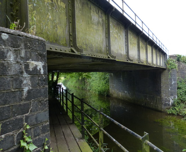 Railway bridge crossing the River Nar