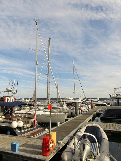 A pontoon in Poole Marina
