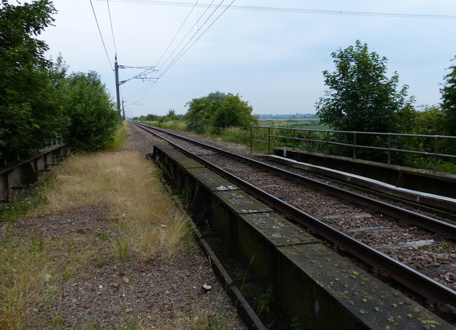 Railway line crossing the River Nar