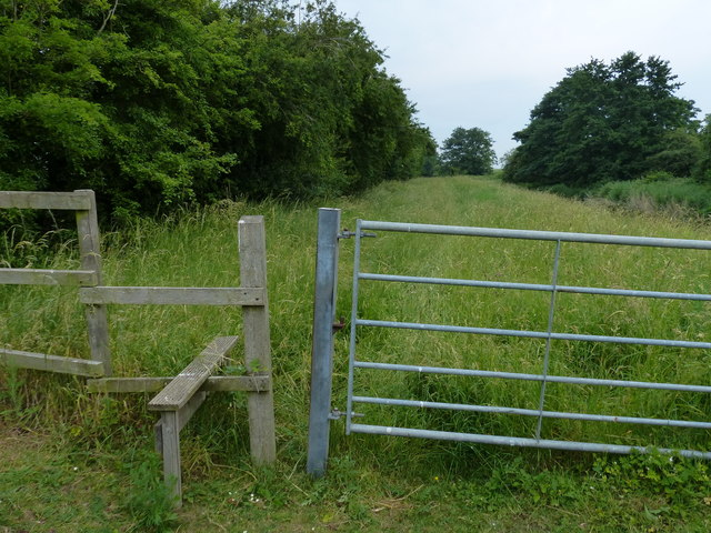 Gate and stile along the Nar Valley Way