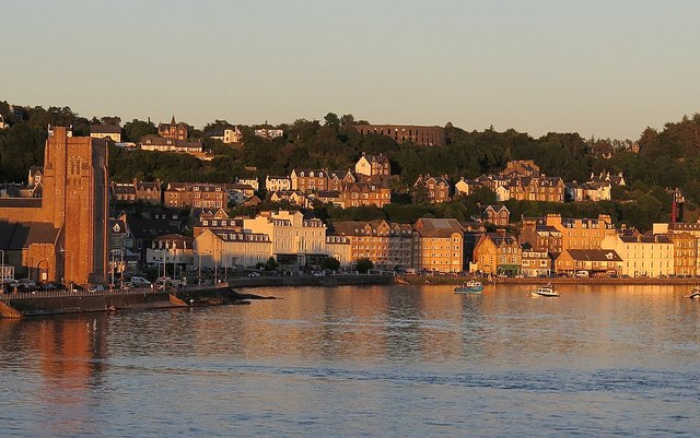 Oban Bay from evening ferry