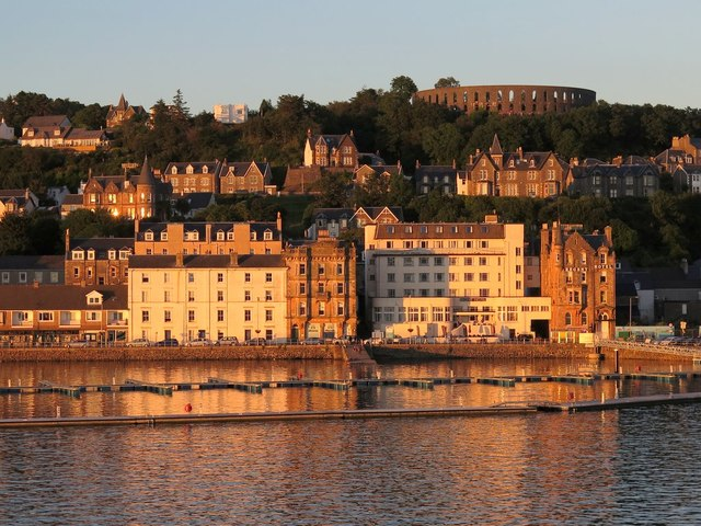 Oban from evening ferry