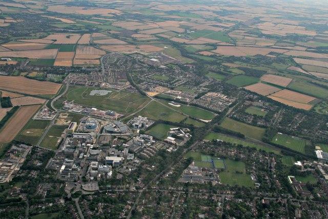 Addenbrooke's Hospital to Trumpington: aerial 2017
