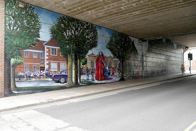 Milford Street Bridge Jubilee Mural