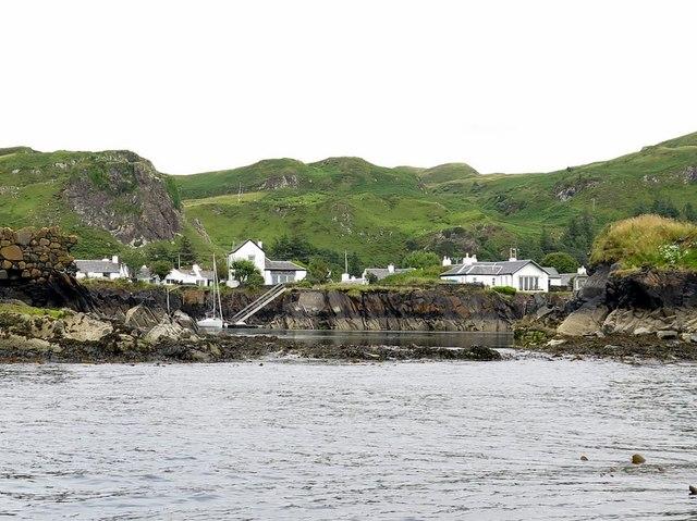 Flooded slate quarry, Ellenabeich