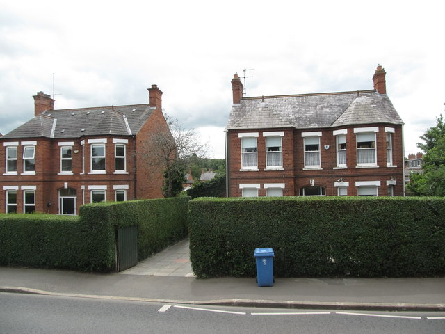 Edwardian sub-urban villas on the Upper Newtownards Road, East Belfast
