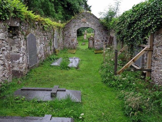 Ruined churchyard at Kilbride