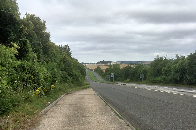 Start of the Dual Carriageway on the A30 near Firsdown