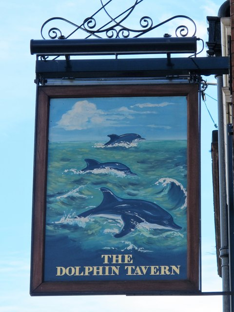 Sign for The Dolphin Tavern, Red Lion Street, WC1