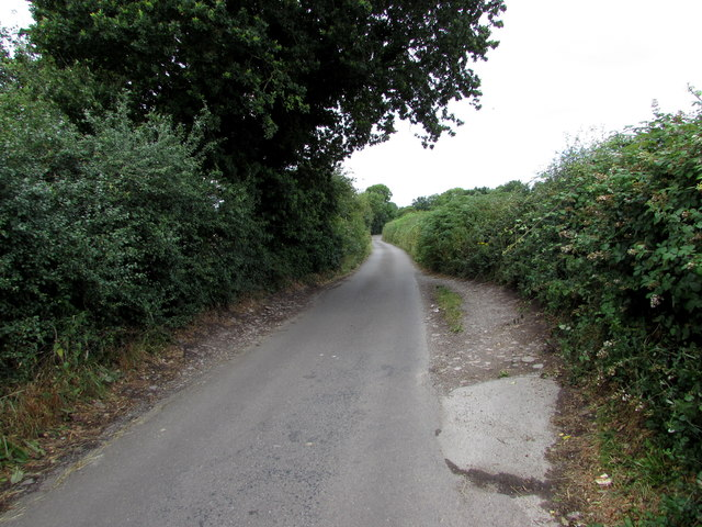 Nibley Lane passing place, South Gloucestershire