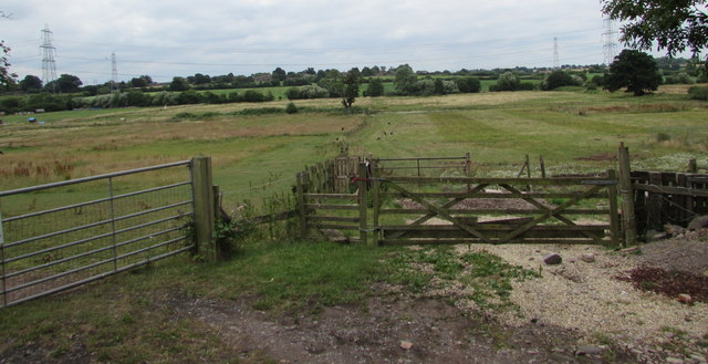 Two gates and a stile opposite Nibley Lane, South Gloucestershire