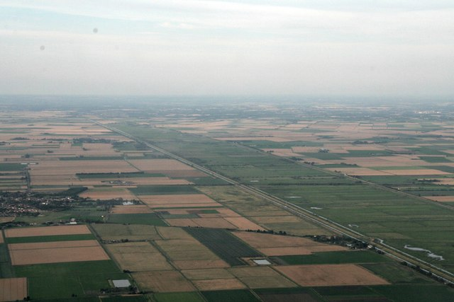 Manea to Purls Bridge and the Hundred Foot Washes: aerial  2017