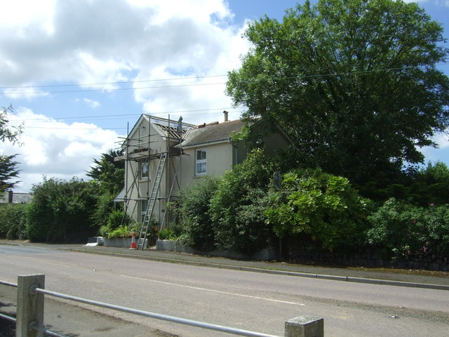 House being repaired, Mawgan