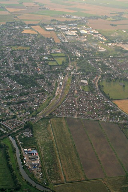 March north and railway: aerial 2017
