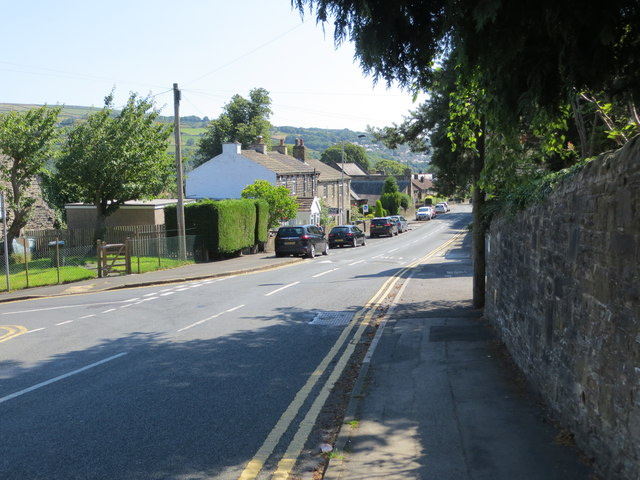 Green Head Road at its junction with Green Head Lane in High Utley, Keighley
