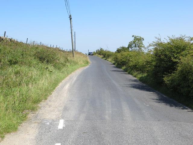 Harehills Lane near Well Head Farm at Oldfield