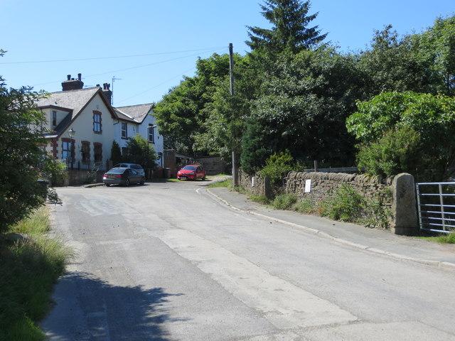 Station Road at Birchen Lea Farm near Harecroft