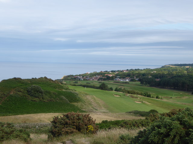 Looking across the golf course to Overstrand