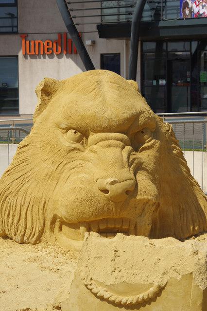 Life of Pi - sand sculpture
