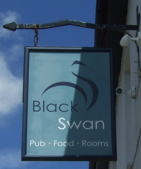 Sign for the Black Swan, Gweek