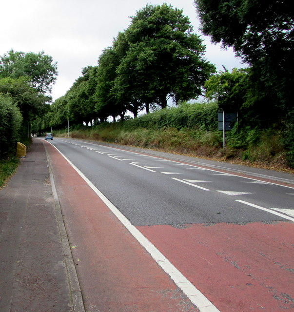 Road from Old St Mellons towards Llanrumney, Cardiff