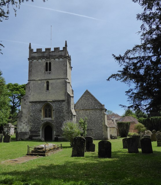 St Mary's, Chilton Foliat, from the west