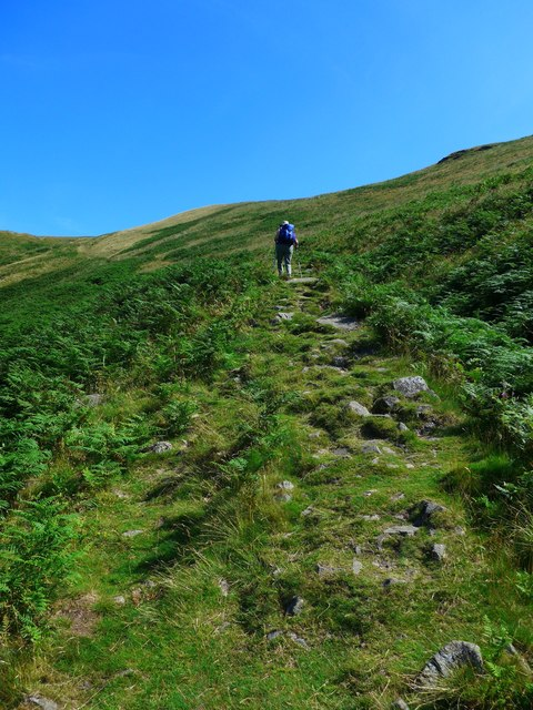 The step ascent to King's Seat Hill