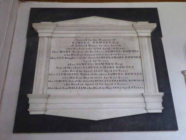 Downes family memorial