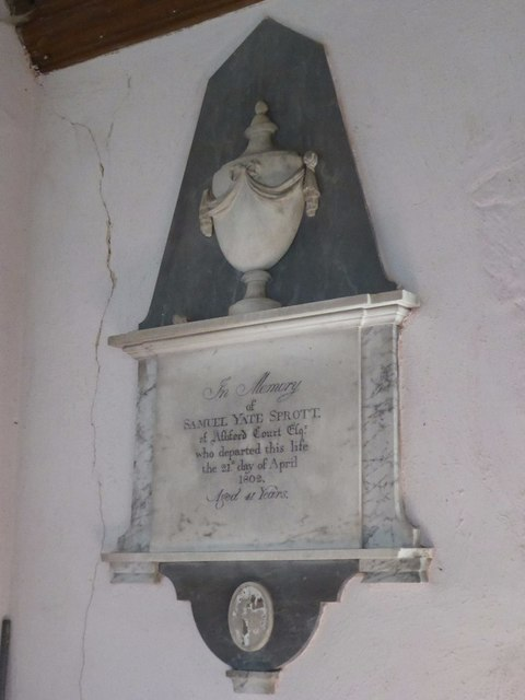 Memorial to Samuel Yate Sprott