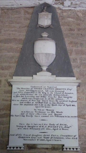 Memorial to George Crawford Rickets