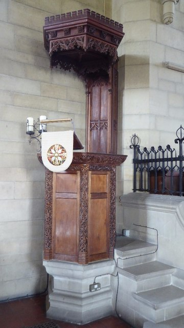 Pulpit, All Saints church, Richards Castle