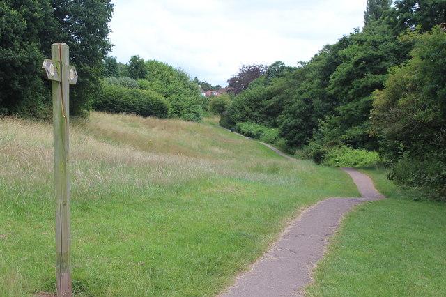 Sirhowy Valley Walk path, Glasllwch