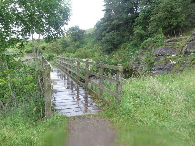Footbridge over Haltwhistle Burn