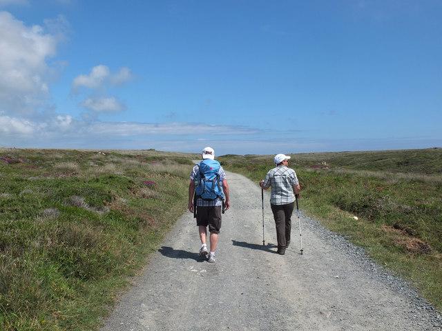 Walkers at Kynance Cove