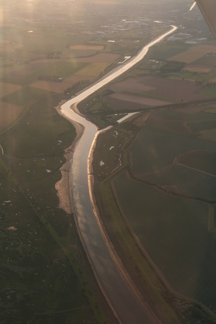 Boston Haven (River Witham) and Hobhole Drain: aerial 2017