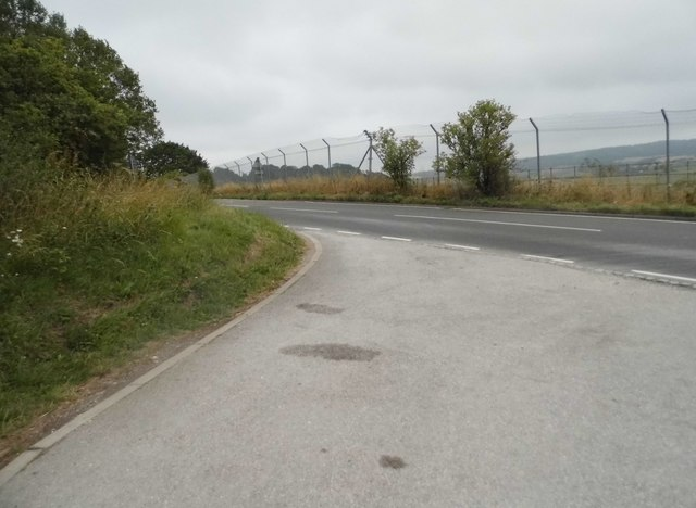 The entrance to Bison Hill car park, Whipsnade