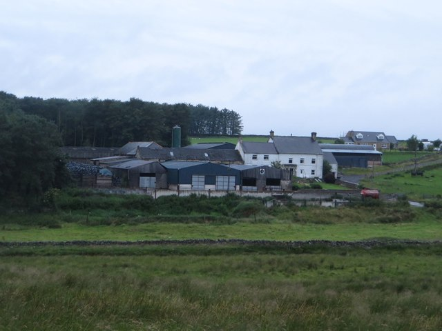 Fields and buildings at Whiteside