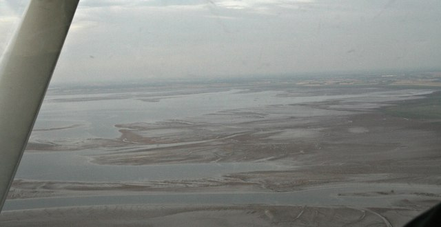 Across the southern part of the Wash at low tide: aerial 2017